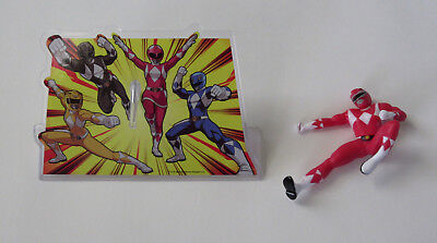 Power Ranger Birthday Cake (1 Red Power Rangers Decoset Cake Topper Figurine Birthday Party Decor)