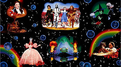 Wizard Of Oz LARGE CHARACTER SCENES Dorothy Glenda Witch OOP Fabric 2/3 YD Panel](Wizard Of Oz Characters)