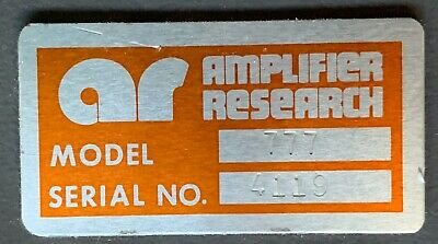 Ar Amplified Research Mo. 777 - 10 -220 Mhz Leveling Pre Amplifer