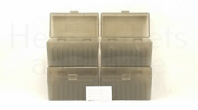 BERRY'S PLASTIC AMMO BOXES (4) SMOKE 50 Round 270 / 30-06 / More- FREE SHIPPING
