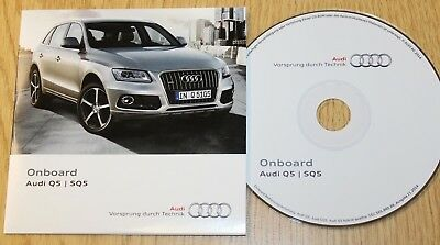 GENUINE AUDI Q5 SQ5 ONBOARD CD DISC HANDBOOK MANUAL 152.565.8R0.88