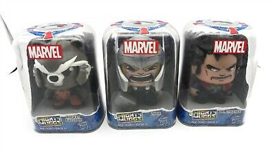 Lot of 3 Marvel Mighty Mugs Collectibles Rocket Raccoon Dr. Strange and Thor