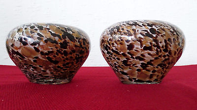 Pair of Beautiful Art Glass Vases with gorgeous design and colors