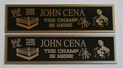John Cena nameplate for signed belt gloves trunks photo or display case - Trick Or Trunk