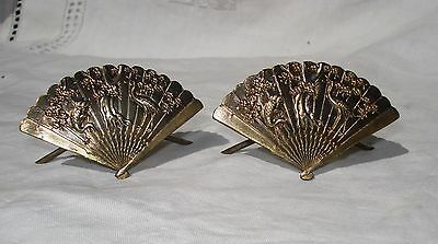 Antique Bronze Fan (Antique  bronze miniature hand fan)