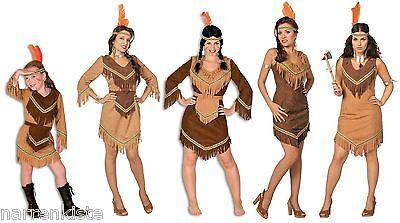 Indianer In Apache Damen Kinder Mädchen Indianerkostüm Kostüm Kleid Sexy Squaw