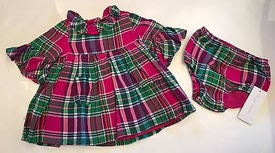 Baby Girl Polo Dress - NWT Ralph Lauren POLO Baby Girl Pink Green Plaid Dress Panty 3 6 9 12 18 24 Mos