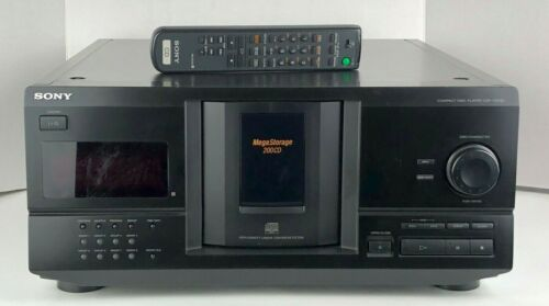 Sony CDP-CX230 Mega Storage Carousel 200 Disc CD Changer Player + Remote, Stereo
