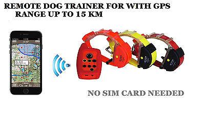 Waterproof Remote Dog training collar GPS tracker (2 in 1)