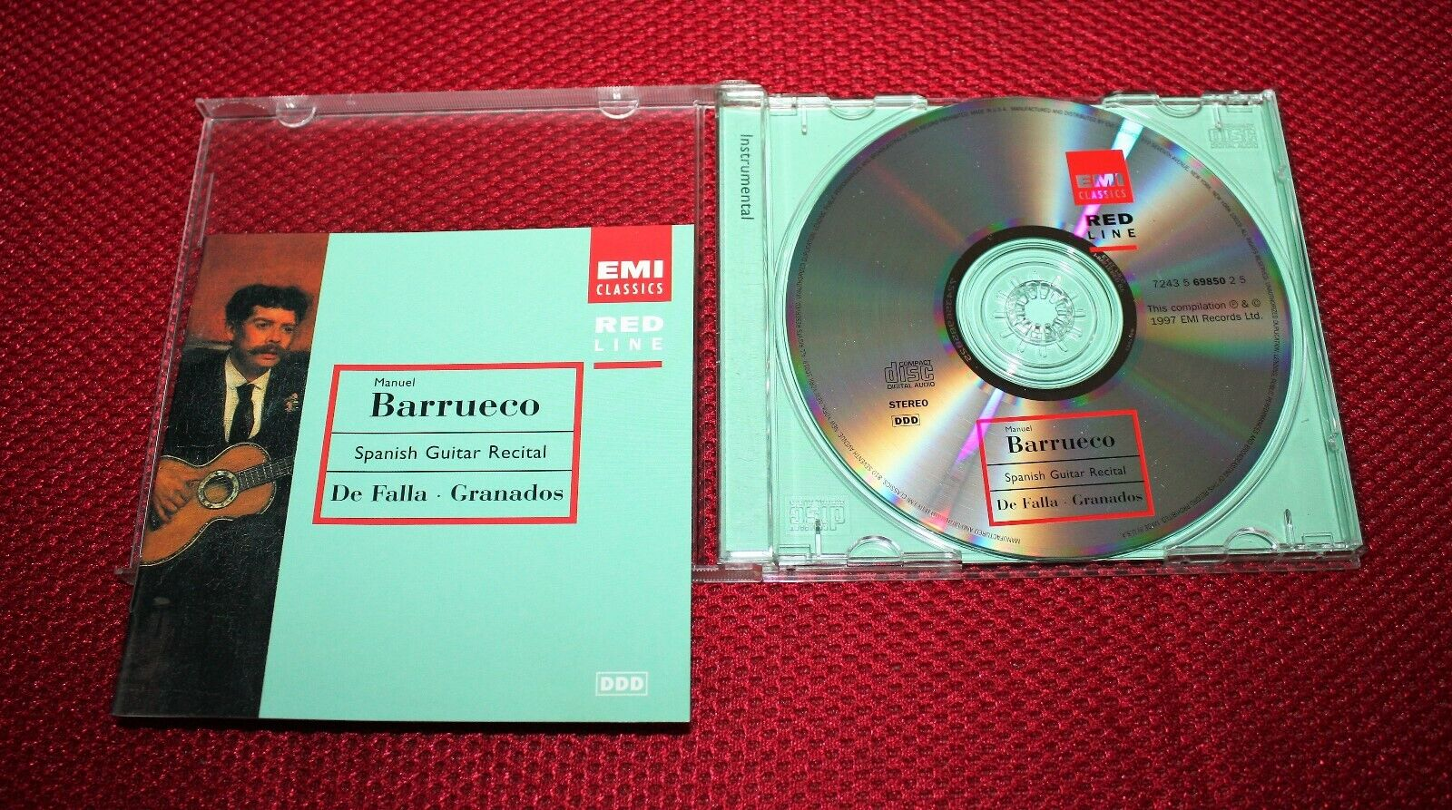 MANUEL BARRUECO, Gently Pre-owned CD, Granados, CLASSICAL SPANISH GUITAR, EX  - $4.00