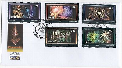 MALTA  2000  Fireworks  Unaddressed First Day Cover  Ref:3640