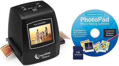 ClearClick Virtuoso Slide, Negative, & Film Scanner - 35mm, 126, 110, Super 8