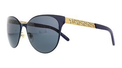 Tory Burch TY6046 Sunglasses 305887-55 - Navy Gold Frame, Blue Grey Solid
