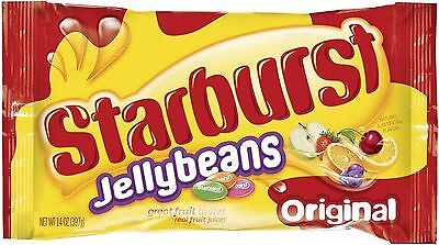 NEW ORIGINAL STARBURST JELLYBEANS FRUIT FLAVORED CANDY 14 OZ BAG GREAT FRUIT