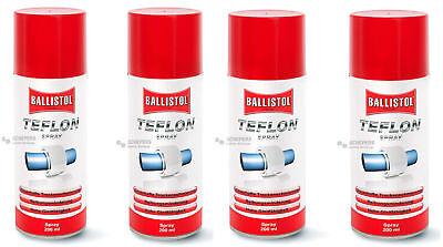 BALLISTOL 25600 Teflon Spray Teflonspray Gleitmittel 4  x 200 ml €26,10/L