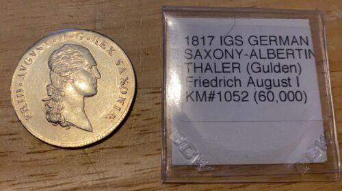 1817 IGS German States SAXONY-ALBERTINE 2/3 THALER KM#1052