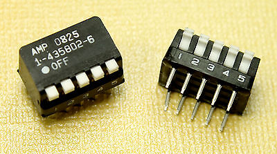 4pcs Amp 5 Position 10 Pin Piano Style Spst Dip Switch 25ma 24v Dc