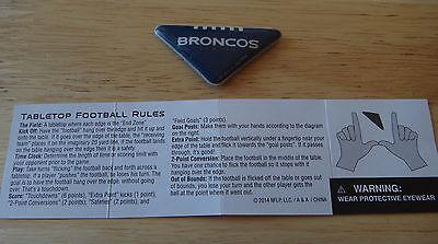 1 NFL Soft Plastic Padded Flick Football Denver Broncos w/ game instructions