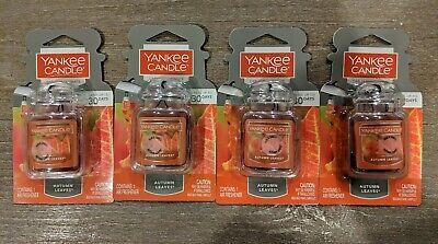 4 Yankee Candle AUTUMN LEAVES Car Jar Ultimate Air Fresheners