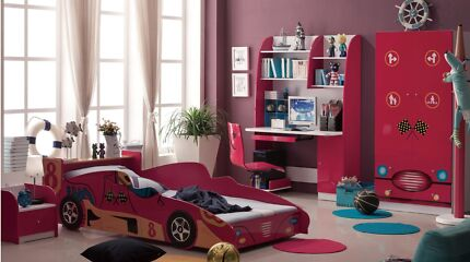 NEW Track Single Kids Car Bed  - #bambinohome