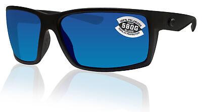 Costa Del Mar Reefton Blackout Frame Blue Mirror 580G Glass Polarized (Costa Frames)