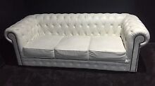 Chesterfield white upholstered Sofa Couch Thornlands Redland Area Preview