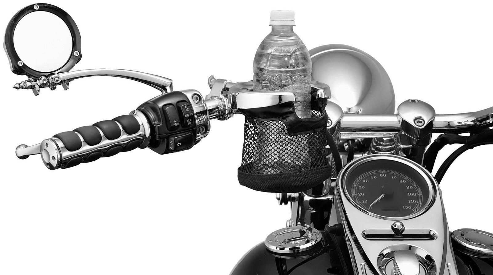 Kuryakyn 1477 Universal Drink Holder with Mug for 1-1//4 Handlebar