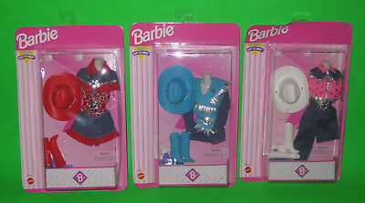New 1996 Mattel Barbie Cowboy/Cowgirl Clothes Outfits Easy to Dress-Up Variants (Cowgirl Dressing Up Outfits)