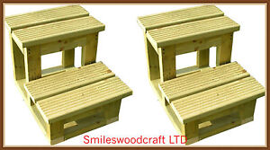 Wooden Horse Steps Horse riding mounting block Garden steps