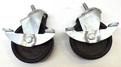 Swivel Caster Wheels Openclose Brakes 4 Diameter Lot Of 2