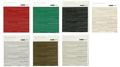 Kaisercraft Mini Alphabet Stickers (6 Colours Available)