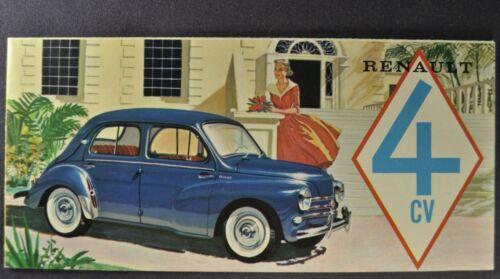 1958 Renault 4CV Sedan Sales Brochure Folder Excellent Original 58