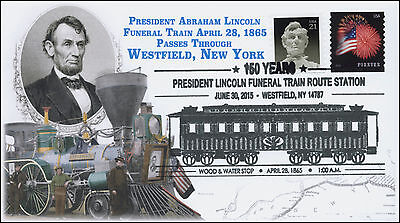 2015  President Lincoln Funeral Train Route  Pictorial  Westfield Ny  15 354