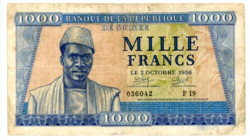 Guinea ... P-9 ... 1000 Francs ... 1958 ... *F+*