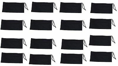 Wholesale Lot 200 Black Micro Fiber Sunglasses Carrying Pouch Case Bag cleaner