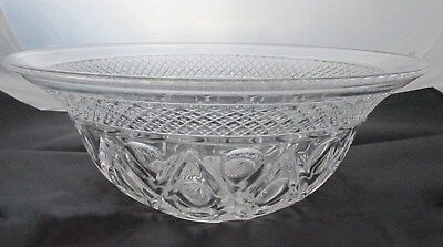 """Imperial """"Cape Cod"""" Depression Glass Clear Salad Bowl"""
