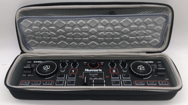 Numark DJ2GO2 Pocket DJ Controller with Audio Interface and Case-Tested Works