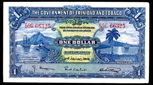 Trinidad & Tobago ... P-5b ... 1 Dollar ... 1939 ...* Choice VF-XF *