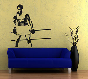 Wall art sticker transfer bedroom lounge sports muhammad for Boxing bedroom ideas