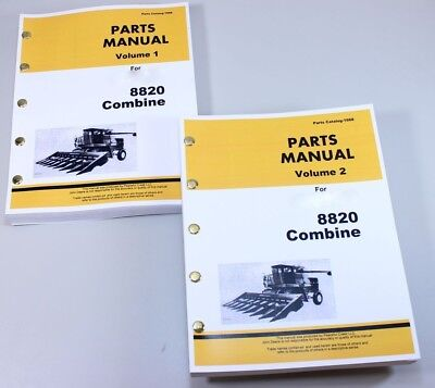 Parts Manual For John Deere 8820 Combine Volume 1 2 Catalog Exploded Views