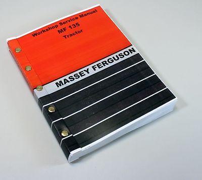 MASSEY FERGUSON 135 TRACTOR SERVICE REPAIR WORKSHOP MANUAL MF135