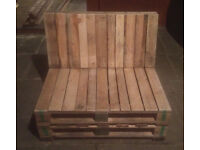 mini pallet seats rough look , sanded finish , perfect for garden , shops or pubs