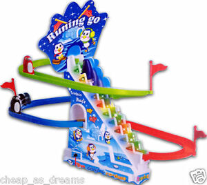 Penguin Slide Race Game Classic Racer Track With Rythmic Music Kids Toys