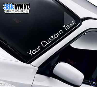 CUSTOM TEXT Lettering Club Forum Website Name Funny Car Windscreen Decal Sticker