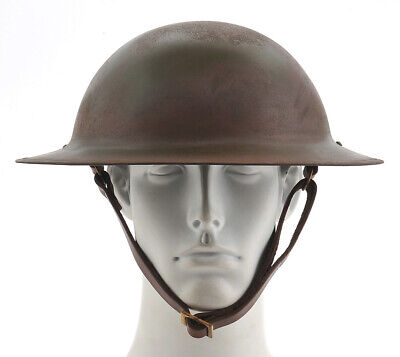 US WW1 Helmet M1917 Doughboy Brodie Helmet Hand Aged Free shipping from the USA