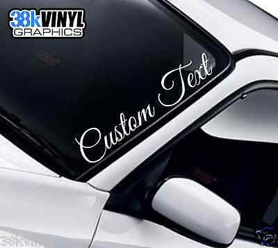 CUSTOM TEXT Lettering Name Funny Novelty Car Van Windscreen Vinyl Decal Sticker