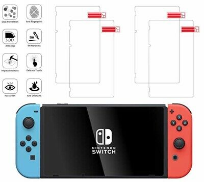 (4 Pack) For Nintendo Switch Premium Tempered Glass Screen Protector
