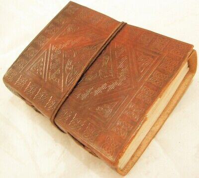 Handmade Leather Bound Writing Journal Diary Celtic Embossed Blank Paper -