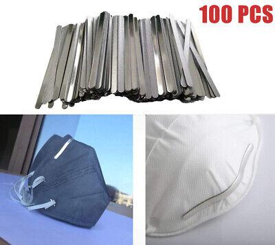 100Pcs Nose Bridge Strip Wire Aluminum Bendable For Face Mask Making Accessories