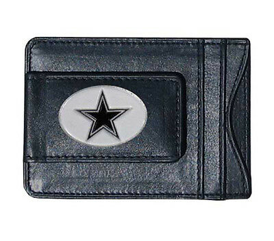 Dallas Cowboys Leather Wallet - Dallas Cowboys NFL Football Team Leather Card Holder Money Clip Wallet